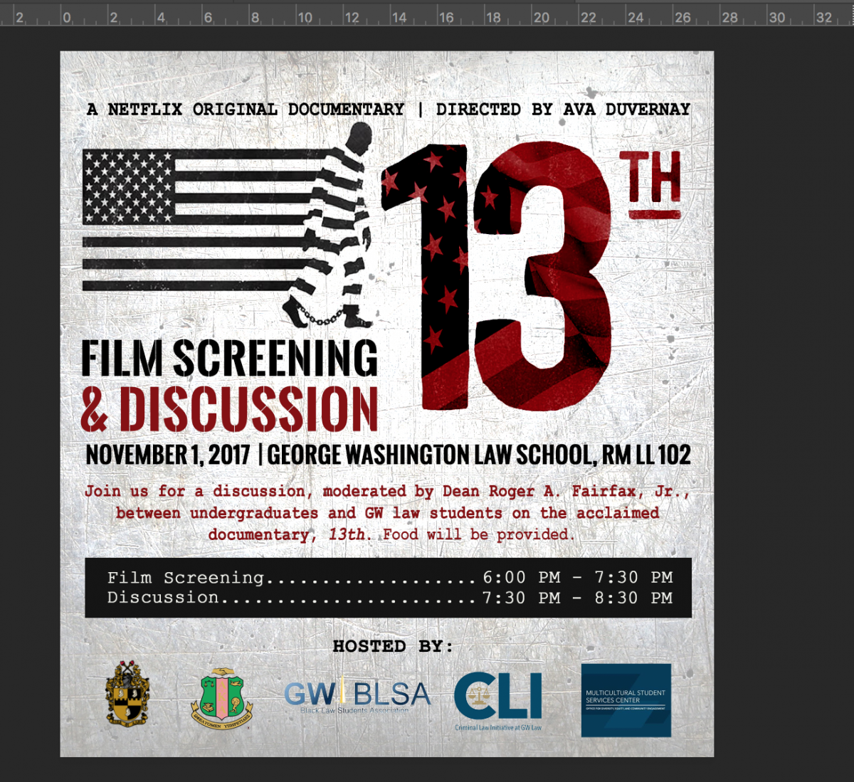 13th Film Screening and Discussion