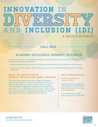 IDI Grant Program poster, fall 2014