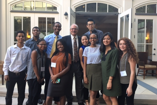 Current Scholars with President Leblanc