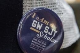 """""""I Am a GW SJT Scholar"""" pin"""